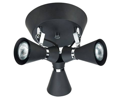 Taklampa Spotlight 3L Japan Svart
